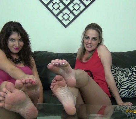 Sarah, Roxie - Barefoot Humiliation and JOI