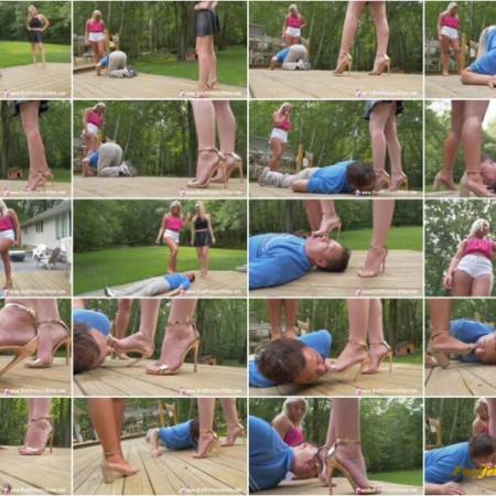 Brat Princess 2 - Ava, Chloe - Humiliate Their Foot Slave Teacher