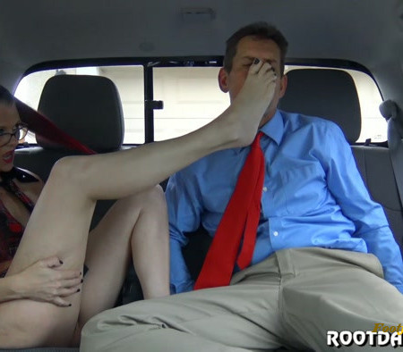 Kitty Quinn - Back Seat Footjob