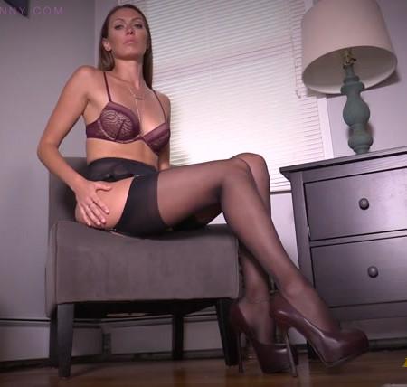 Bratty Bunny - Dangling Stockings Dropping High Heels