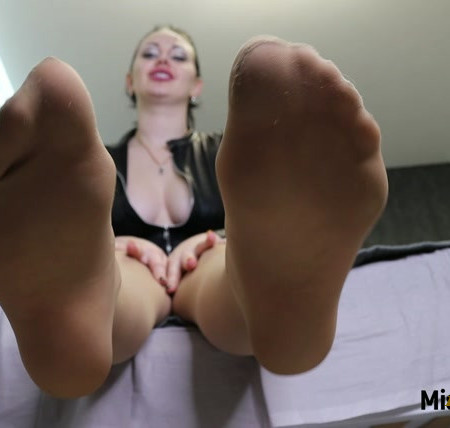 Russian Beauty - Nothing excites you more than My nylon feet and the smell of them