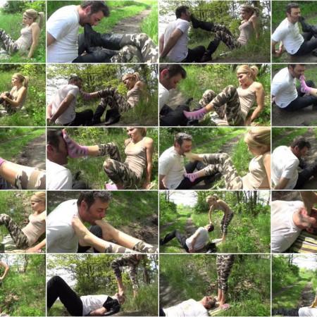 GABRIELLA - Saving Private Vigor - HARD Foot Gagging