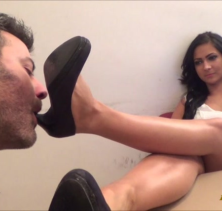 ALEXANDRA - Shoe and Foot Worship at The Office