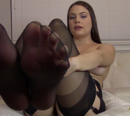Princess Ivory - Tits and Stockings JOI