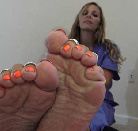 Kinky Foot Girl - 4k Home From 12 Hour Shift, Still Wearing my Scrubs, SMELL MY FEET