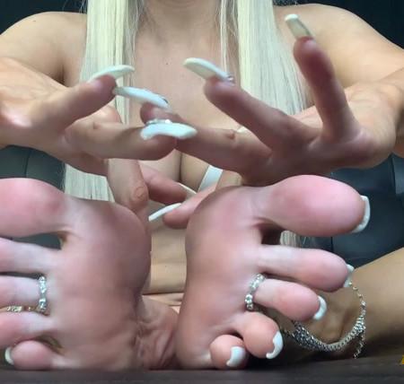 Britteni Feet - All White Foot Jewelry JOI