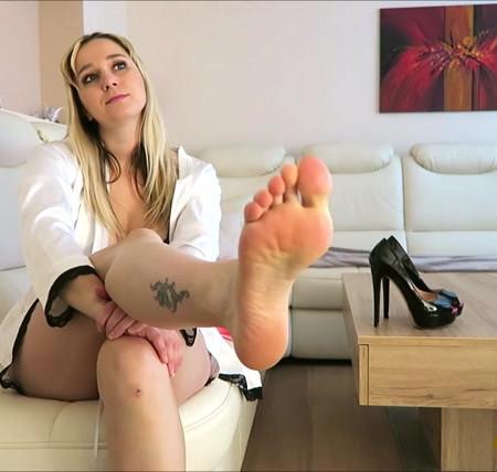 Nina G - Making you my FOOT BITCH!