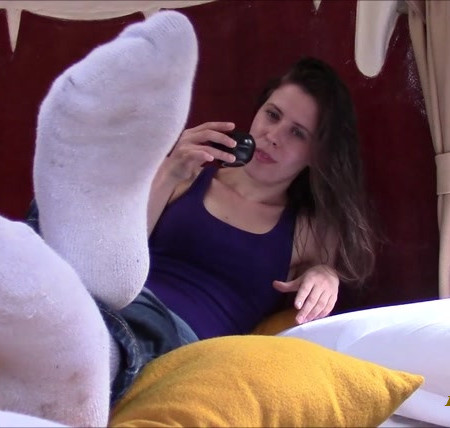 Miss Melissa - Pay To Worship Socks on Vacation