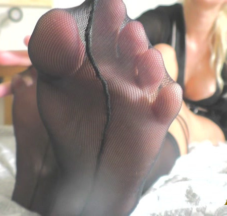 Sexy blonde princess - Foot and Nylon Porn