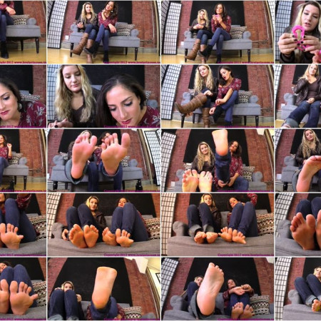 Brat Princess 2 - Princess ChiChi, Princess Chloe - You Need to be Locked in Chastity before You Worship Our Feet