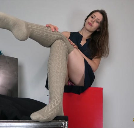Miss Melissa - Beige Thigh High Socks