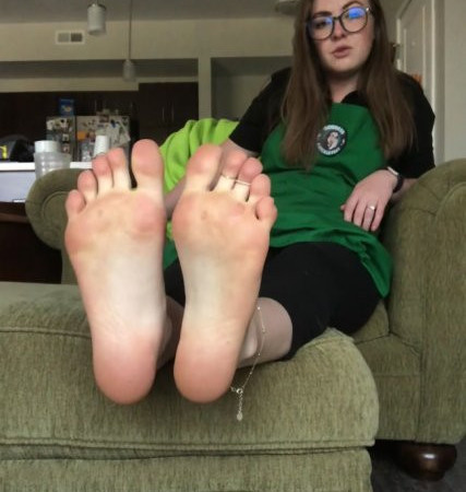 freckled feet - Your boss at Starbucks catches you