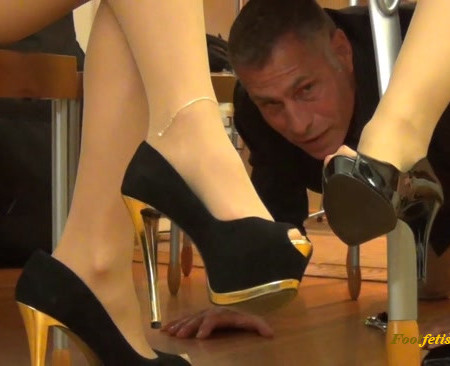 Randy Moore Boardroom Foot Worship Under Table