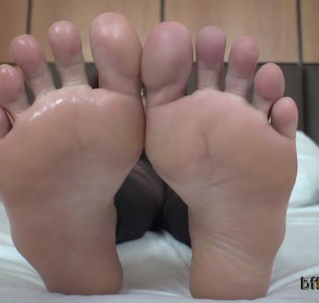 Bffvideos - Worship Samantha Nylon Sweaty Feet Pt.3