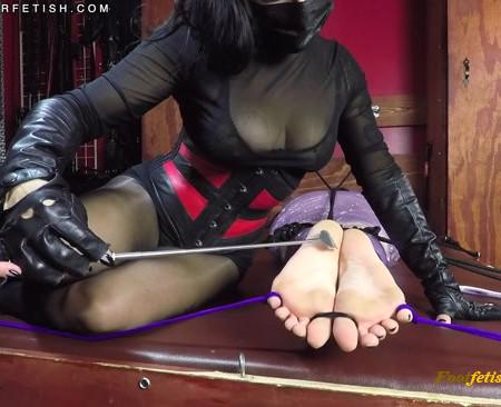 Dominatrix Alexandra Sadista – Foot Tickling My Bound and Gagged Slavegirl