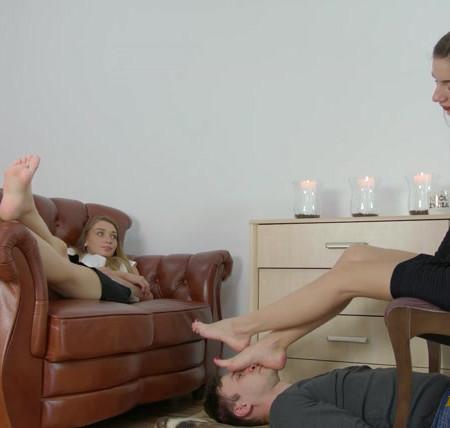 Polish Mistress - Larisa And Helena - In Foot Fetish Club