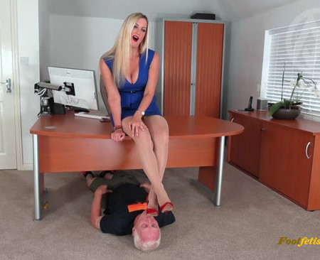 Office Trampling From Sharp Jimmy Choos
