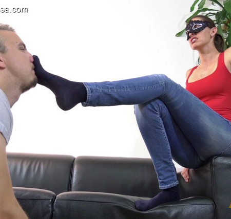 Madame Marissa - Sweat -soaked socks prepared in rubber boots