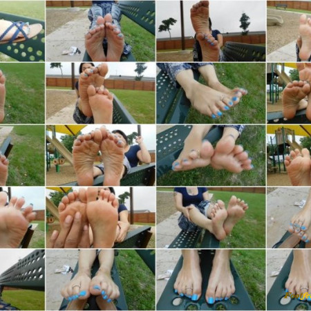 Alicia's Oily Feet at the Playground
