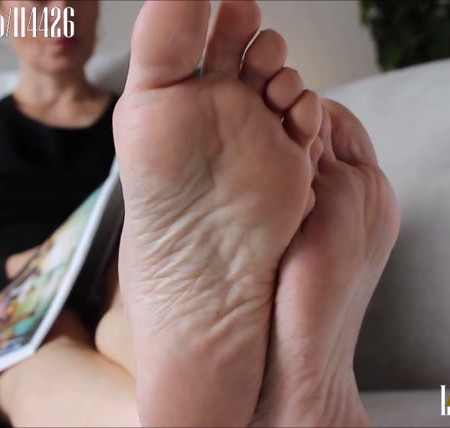 Dominant English lady foot soles ignore