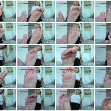 Princess Sienna - Stroke and Edge For My Feet