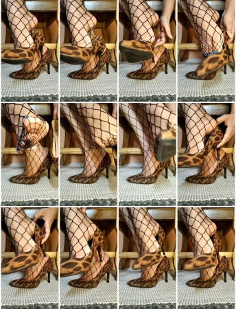 cinnamonfeet2 - dangling my heels with fishnets on