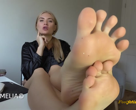 Dommelia – Blackmailing The CEO Into My Foot Bitch