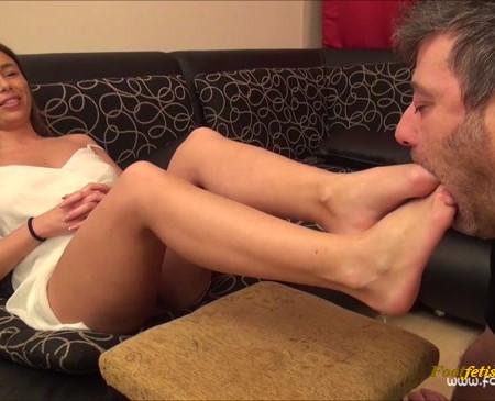 FootDominas - LORETTA - Worship My Sexy Feet! (POV) PART1
