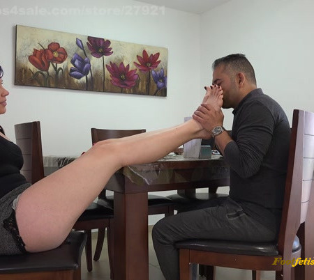 Extreme Feet Pov - Abusing the dungeon master's foot fetish