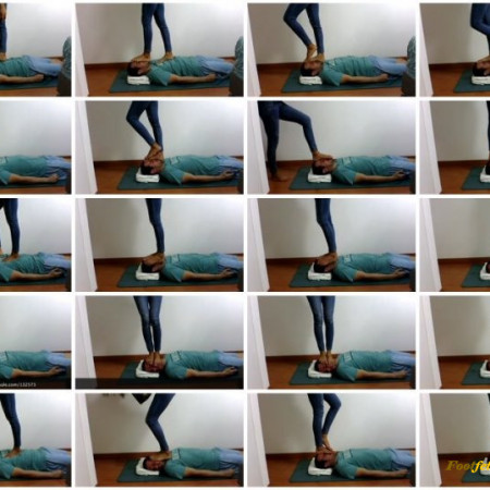 Goddess Enola Fischer - Face Trampling And Jumping, Flipflops And Barefoot