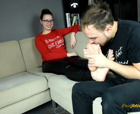 Czech Soles - Madam Cat - Foot slave for her smelly socks and feet