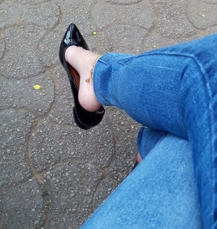 LOLITA FEET - Outdoor Dangling - Black Flats