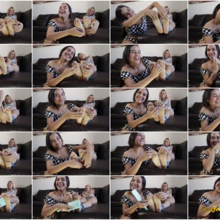 Global Tickling Studio – Faby's Hot Revenge On Neho's Ticklish Soles!