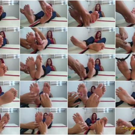 BrazIlian Tickling – Table Tickling Series – FERNANDA TICKLED