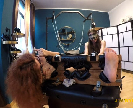 Octopus – Ria – First Time – Feet in the Stocks