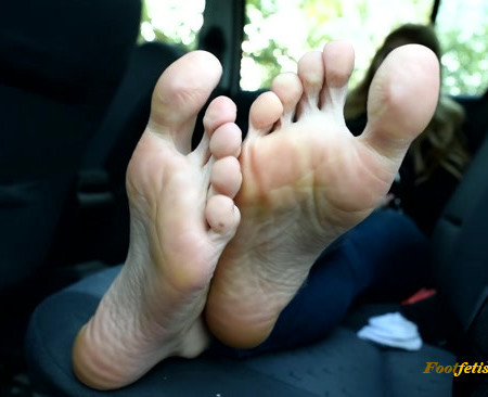 Czech Soles - Young hitchhiker gets a ride for her BIG sexy feet