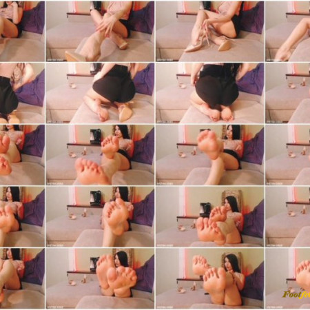 Miss Daria - Jerk off to my perfect feet as I instruct you, cei at the end if you dare