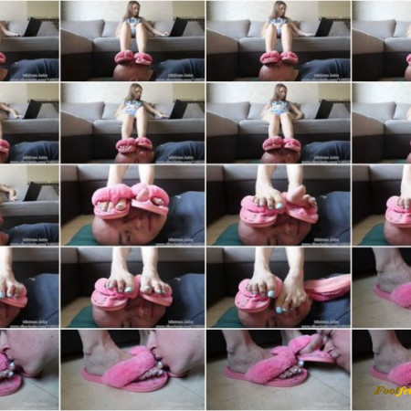 Mistress Astra - Dirty Slippers Footstool And Worship NEW!!! 02 Apr (Premium User Requests)