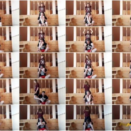 Evelina Domina – Spandex Shorts Headscissors