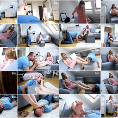 Czech Soles - Daniella - Caught at smelling her shoes and punished