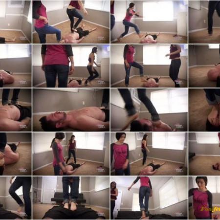 Bratty Foot Girls - Nikki Next, Morgan Delray - Walking all OVER you!