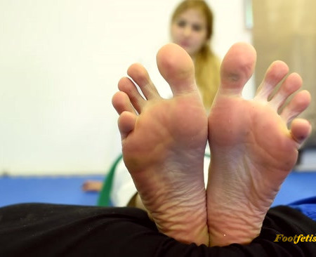 Czech Soles - Teen karate student dominates her teacher with BIG feet