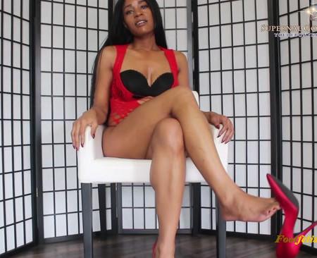 Goddess Ashanti - Foot Bitch Heel Dangle JOI (Premium User Requests)
