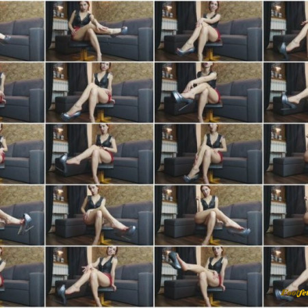 MoneyGoddesss – Dangle Peep-Toe High Heels