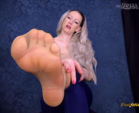Misha Mystique - Pantyhose Foot Worship - Jerk and Jerk and Jerk