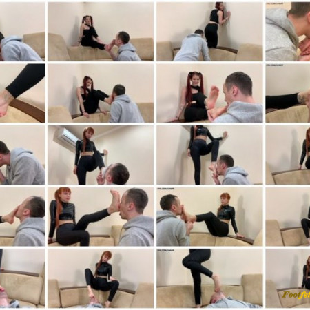 ppfemdom - Princess Kira, Princess Sofi - Foot Slave Takes Turns Serving The Feet Of Two Young Mistresses – Double Foot Domination