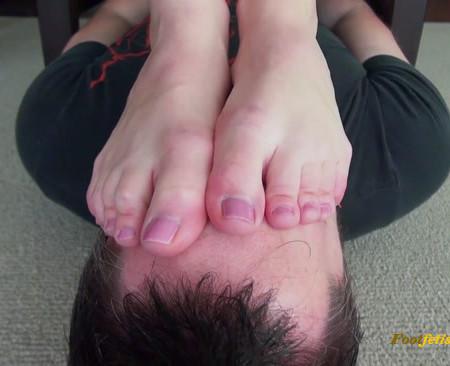 Bratty Foot Girls - Princess Rene - Buried Non-Stop Under my Stinky Soles