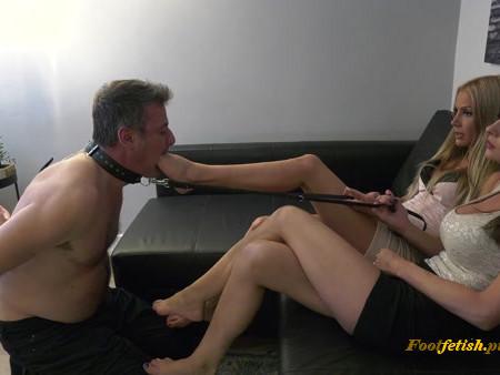 Tatjana, Abbie Cat - Wanna try my slave, EXTREME Foot gagging